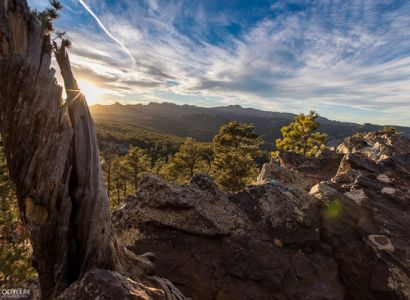Cody Lere shared this photo from an unseasonably warm 73 degree day in the Black Hills this week. It was taken from the Iron Mountain outlook just before sunset.