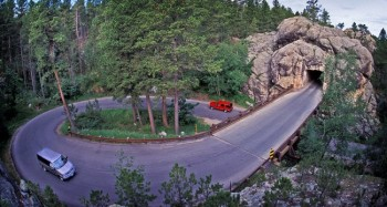 One of Iron Mountain Road's distinctive pigtail bridges. Photo by <a href='http://www.dakotagraph.com' target='_blank'>Chad Coppess</a>. Click to enlarge photos.