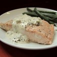 A chunk of poached salmon generously slathered with homemade tartar sauce is only slightly more difficult to prepare than boiled water. Photo by Fran Hill.