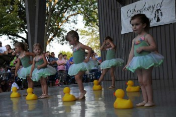 The dancing girls are a small part of the fun at Yankton's Riverboat Days.