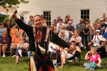 The Lakota group Brule will entertain Riverboat Days crowds again this year. Photo by Bernie Hunhoff.