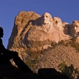 A summer sunrise gives a nice color to the mountain, but the shadows can hide Roosevelt s face.