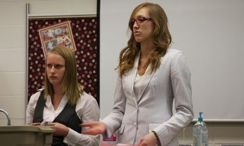 Young speakers came to Yankton last week for the annual State Debate Tournament. SDHSAA Photo.