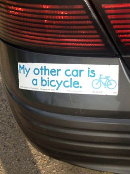 A popular bumper sticker.