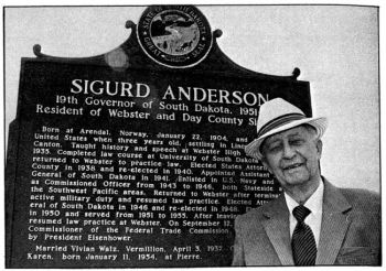 Sigurd Anderson served as state Attorney General, governor and was a member of the Federal Trade Commission.