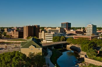 The city of Sioux Falls is home to 165,000 people, while its metro area includes nearly 245,000, making it South Dakota's metropolis.
