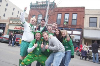 Revelers at the 2007 St. Patrick's Day festivities in Sioux Falls. Photo by Bernie Hunhoff