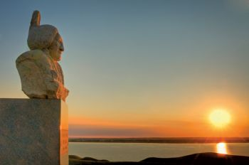 Sitting Bull's grave overlooks the Missouri River near Mobridge. Photo by Chad Coppess/S.D. Tourism