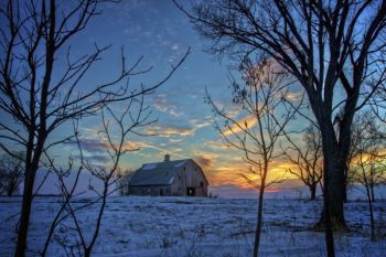 This photo of a lone barn in rural Miner County was taken on the winter solstice, the shortest daylight day of the year.