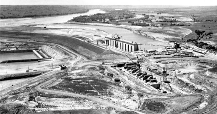 The construction of Fort Randall Dam created Lake Francis Case, which extends more than 105 miles upstream. The community of Pickstown sprung up near the dam and was named in honor of Gen. Lewis A. Pick.
