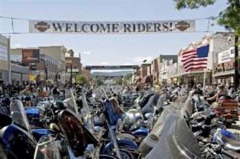 At the Sturgis Motorcycle Rally, you're guaranteed to get a taste of the wild side of life. Photo by S. D. Tourism.