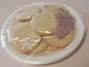 All we know about these sugar cookies is that Barb Peterson of Huron made them. Photo by Catherine Lambrecht.