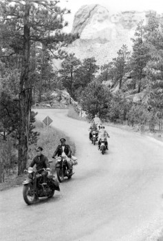 Due to their wild and free nature, Clarence Hoel's motorcycle club was dubbed the Jack Pine Gypsies.