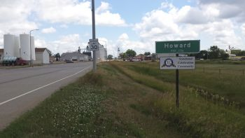 Howard's sign looks pretty welcoming after a 59-mile bike ride.