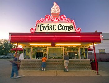 Twist Cone in Aberdeen is a favorite stop for ice cream. Photo by Chad Coppess/S.D. Tourism