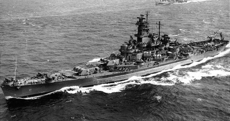 The World War II version of the USS South Dakota was active from 1942 to 1947.