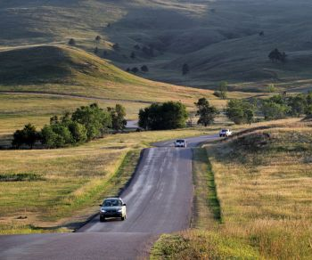 Custer State Park's wildlife loop winds through a variety of scenery.