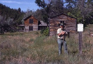 Forest Service archaeologist Dan Flemmer guided us around the Williams Ranch when we visited in 1992.