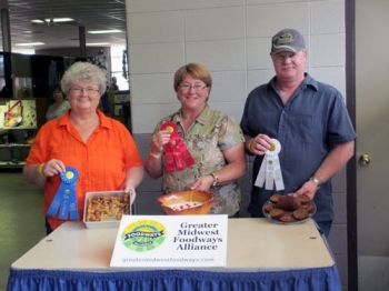 The winners of the 2012 Heirloom Recipes Contest in Huron: Sheryl Kloss, Marie Harvey and Mike Sibson. Photo by Catherine Lambrecht.