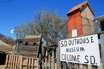 Richard Papousek's Outhouse Museum is the newest attraction in Colome.