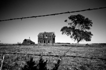 An abandoned house can conjure up stories of past joys as well as hard times.