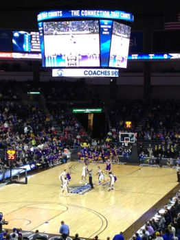 South Dakota State and Western Illinois tip off in the opening round of the Summit League conference tournament at the Denny Sanford Premier Center in Sioux Falls. Leaders there hope the new arena can bolster the city's chances of hosting larger college basketball events.