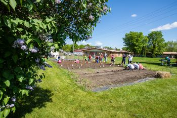 Planting day at Growing YOUth Gardens behind Good Samaritan in De Smet.
