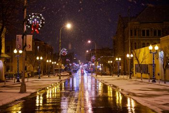 Phillips Avenue in downtown Sioux Falls, December of 2013.