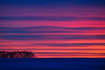 A particularly colorful post sunset sky in northern Minnehaha County.