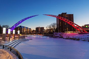 The Arc of Dreams with Jackrabbit and Coyote colors on one of the coldest evenings in January.