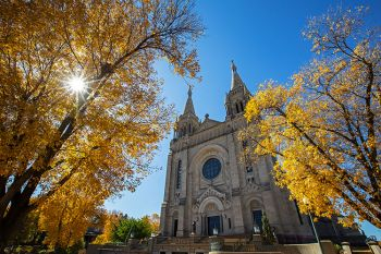 St. Joseph's Cathedral of Sioux Falls on a perfect October day.