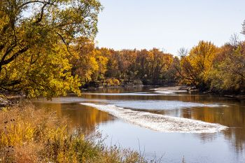 The Big Sioux River just north of Sioux Falls showing off in the afternoon light.
