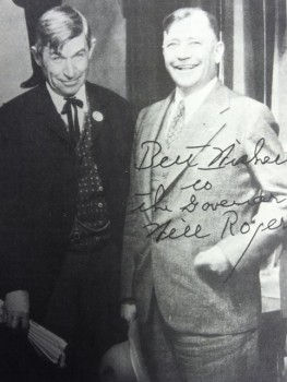 Berry and Will Rogers. The governor once tried his hand at a humor column patterned after Rogers'.
