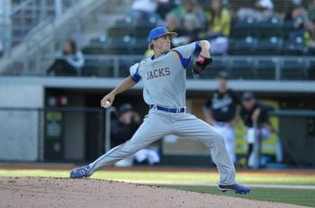 Layne Somsen, a Jackrabbit standout, will now pitch in the Reds farm system.
