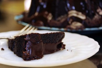 A moist cake with chocolate ganache can be just as satisfying as an ice-cold brew. Photo by Bernie Hunhoff.