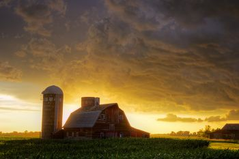 After the storm in rural Hanson County.