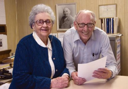 Phyllis Dolan Justice and her husband, Clarence, were longtime publishers of the Grant County Review, which remained in Phyllis  family for 102 years.