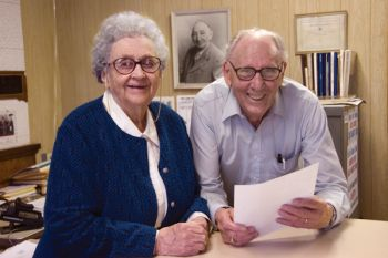 Phyllis Dolan Justice and her husband, Clarence, were longtime publishers of the Grant County Review, which remained in Phyllis' family for 102 years.