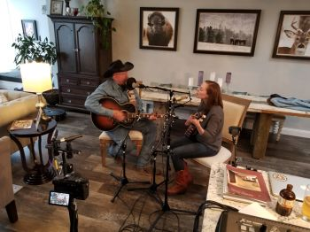 Paul Larson and Jami Lynn record the first installment of Dakota Duets.