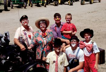 Don Crouse and his clown family.