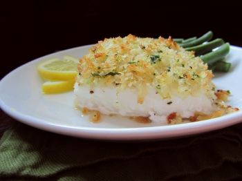 Roasted cod with panko breading is an elevated version of the fish sticks that Fran Hill longed for as a child.