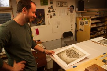 Andrew Kosten is a Tennessee native who studied printmaking at the University of South Dakota in Vermillion.