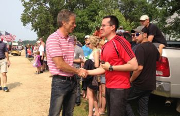 Politicians don't miss Kranzburg, especially in an election year. Here, Sen. John Thune works the crowd.
