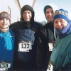 Four of the hardy folks who braved -28 degree wind chill to run in Watertown s 2010 Turkey Day 5K.