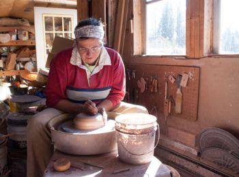 Linda Meyer creates pottery in a solitary Black Hills cabin.
