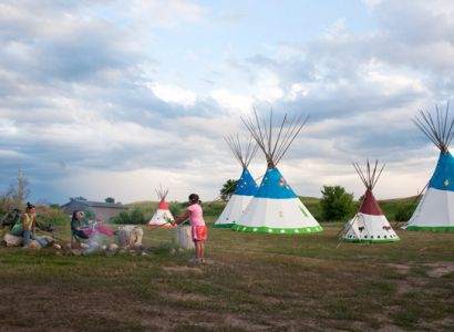Simplicity is the beauty and challenge of a Lakota youth camp that grew from one woman s vision quest.