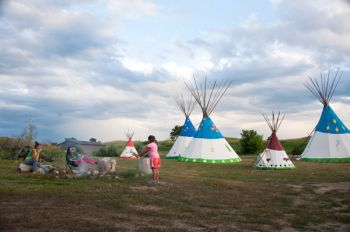 Simplicity is the beauty and challenge of a Lakota youth camp that grew from one woman's vision quest.