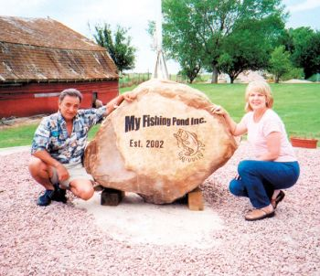 John Alvarez and wife Dee Ann started a fishing pond for brain injury survivors in 2002. Photo by Bernie Hunhoff.