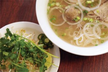 Our South Dakota restaurant tour revealed several delicious ethnic dishes, like pho, a Vietnamese soup that we sampled at Saigon in Rapid City.