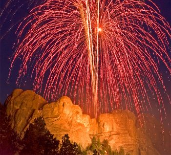 Fireworks at Mount Rushmore. Photo by Chad Coppess/S.D. Tourism.